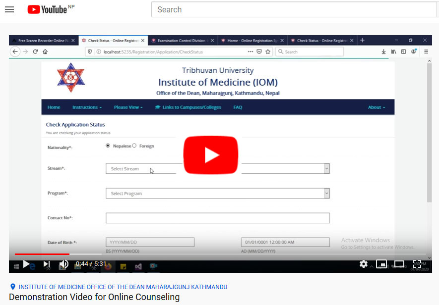 Demonstration Video for Online Counseling