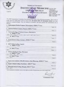 Result of MBBS 1st phase 2nd Year and BDS 2nd Year Chance Exam 2076