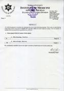 Result of DM Neurology and MCh Urology Reuglar Exam 2077