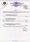 Result of MD Internal Medicine Final Year And MD Psychiatry Third Year Programs Supplementary Exam 2