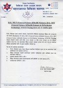 Notice for B.Sc. MLT, B.Sc. MIT & B. Perf. Tech. Admitted in Paying Quota of Maharajgunj Medical Cam